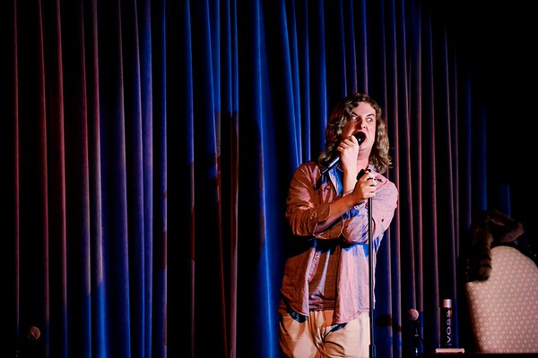 ISP student David Finch performs Feb. 1 at McCurdy's.