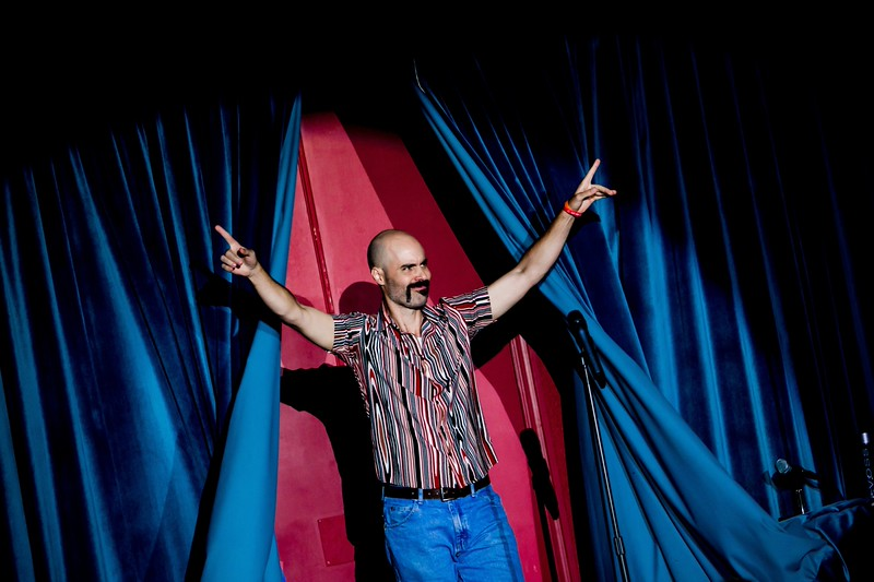 Comedian and New College alum Ashely Strand '96 takes the stage at McCurdy's Comedy Club Feb. 1. His ISP students performed stand-up routines before a live audience.