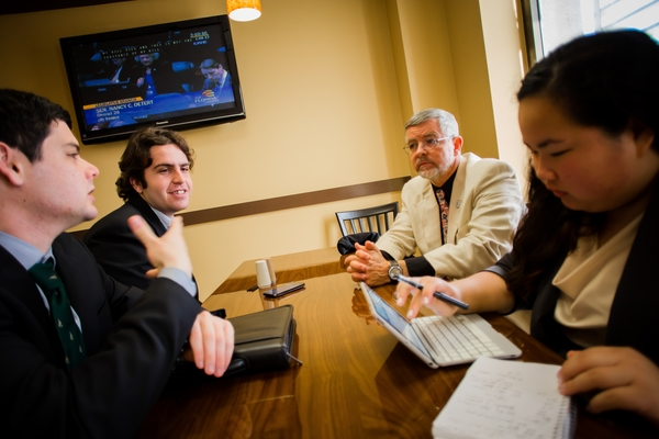 New College of Florida alumni Robert Brunger mentored students interning in Tallahassee at the Capitol.
